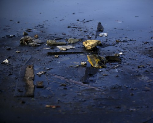 Once rich in sea life, Guanabara Bay in Rio de Janeiro, Brazil is now heavily polluted after years of abuse.