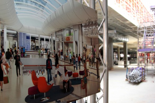 An artist impression of part of the planned 130 000 square metres Mall of Africa