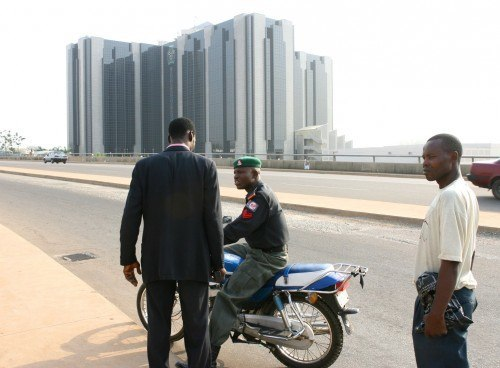 The Nigerian Central Bank is seen in Abuja, Nigeria. Nigeria surprised in March with the first rate reduction in more than three years. Picture: Suzanne Plunkett/Bloomberg News