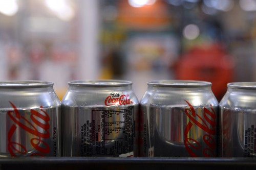 Coco-Cola's low sugar range such as sparkling waters and plant-based milk boosts revenue. Image: Carla Gottgens, Bloomberg