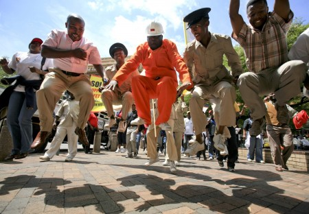 Protests test tribal authority on SA's platinum belt