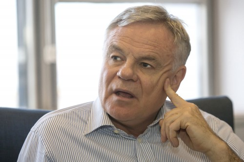 Neither chairman Koos Bekker (pictured) nor CEO Bob van Dijk were willing to discuss the MultiChoice matter at the results presentation on Wednesday. Picture: Halden Krog/Bloomberg
