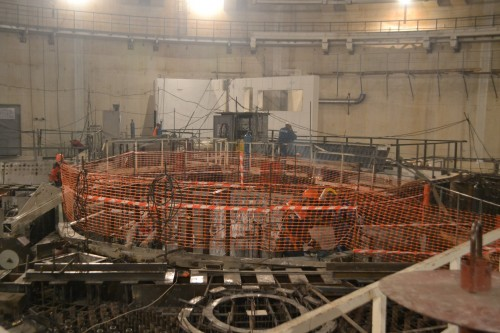 The nuclear reactor vessel will be placed in this space and the reactor itself will be positioned inside the vessel. Before operations start, the whole reactor unit is sealed off permanently.