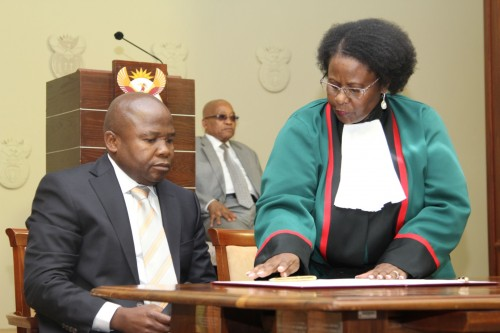 David Desmond van Rooyen, Minister of Finance with President Zuma and Justice Kampepe