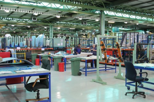 Denel assembly floor. Picture: Moneyweb
