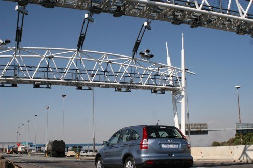 Etolls Gantry vehicles on highway tolls, E toll