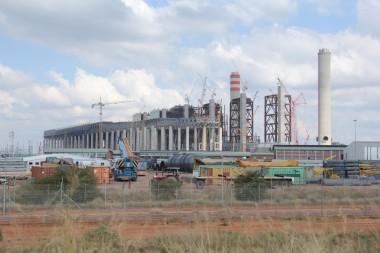 An earlier picture of the Medupi construction site near Lephalale in Limpopo. Picture: Moneyweb
