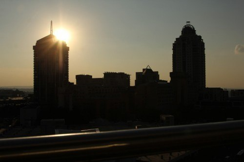 City skyline against sun in South Africa. Picture: Supplied