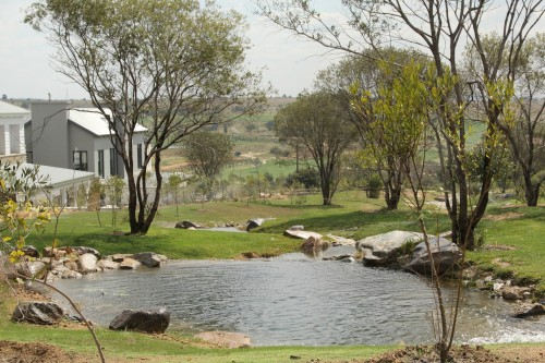 View of Douw Steyn's home which overlooks Steyn City.