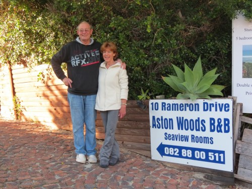 Rob and Shelly Wilson, owners of Aston Woods Bed & Breakfast in nearby Aston Bay are excited about the prospect of new business related to the proposed nuclear development at Thyspunt. They expect property values to increase sharply during the construction period.