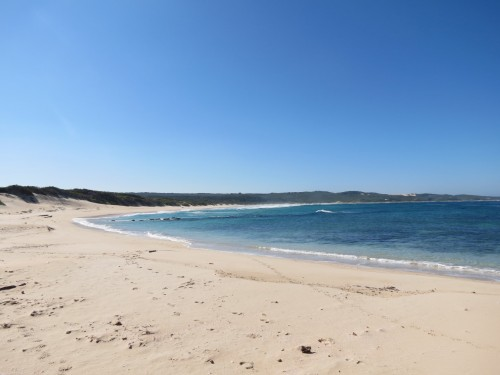 Thys Bay where the seawater used to cool down the steam used for electricity generation will be pumped into the sea again. It will be 1-2 degrees warmer than the water in the bay. This temperature variance dissipates at about 100m into the ocean, says dr. Kelvin Kemm, CEO of Nuclear Africa.