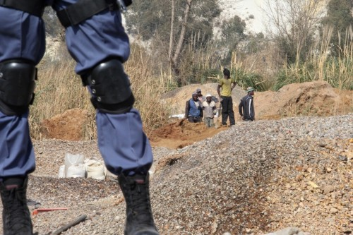 Illegal miners, also known as artisanal miners are breaking into unsecured mining sites, often risking their lives to obtain metals. Picture: Moneyweb