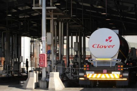 Rand firms; Clover shines in flat stock market
