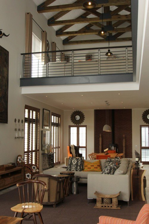 Inside the free-standing home at Steyn City.