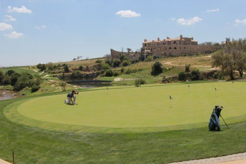 Douw Steyn's private residence with the golf course in the foreground.