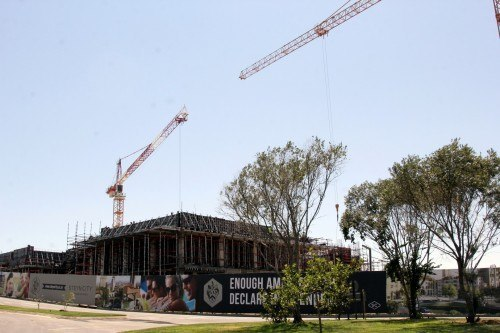 The site where 50 000 square metres of retail is expected to roll out.