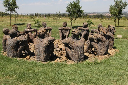 One of many art works at Steyn City.