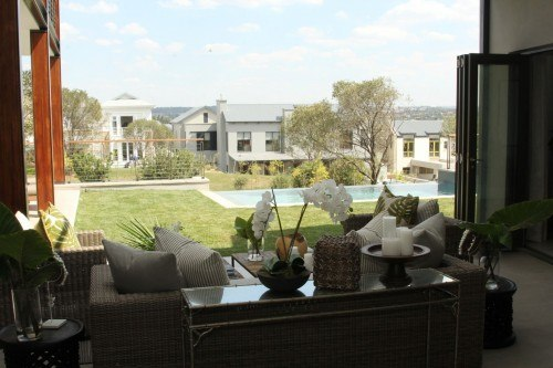 A view from Inside the free standing homes at Steyn City.