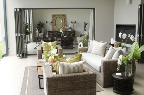 Inside the free standing homes at Steyn City.