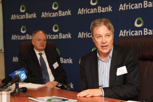 Brian Riley, CEO designate of African Bank Good Bank (right) and Tom Winterboer, African Bank curator (left).