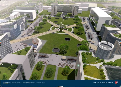 An artist impression of the Vaal River City mixed-use development which is set for completion around 2030.