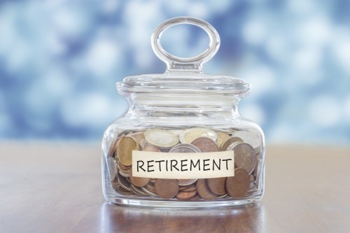 Retirement, jar, savings, coins, money, pensions, investment