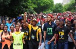 Police fire stun grenades to disperse student protesters