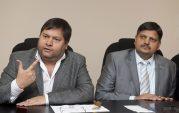 How did the Guptas get painted black?