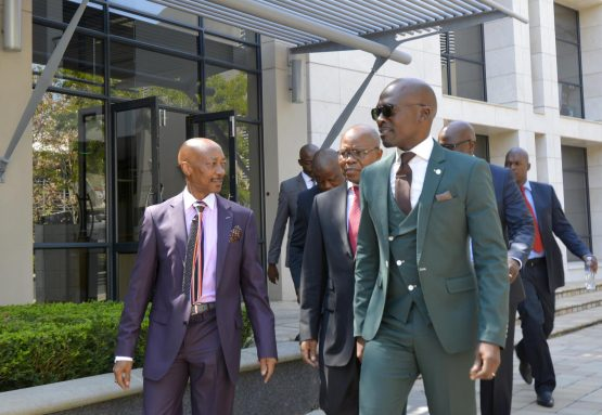 Sars commissioner Tom Moyane (left) and finance minister Malusi Gigaba (right). The Davis Tax Committee has recommended that the President should not appoint the Sars Commissioner directly. Picture: Supplied