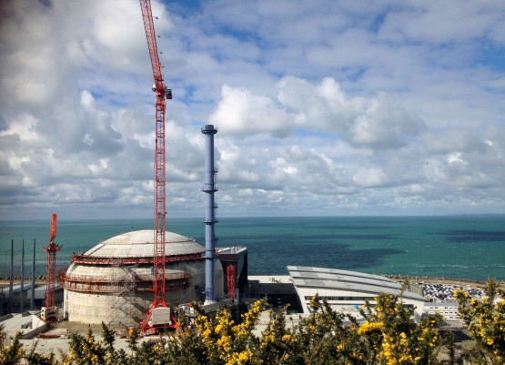France's first generation 3 nuclear reactor under construction at Flamanville on the coast of Normandy. The reactor is expected to be started up in 2018, after the initial deadline of 2012 had to be extended. The initial budget oF €3.3 billion has grown to €10.5 billion.