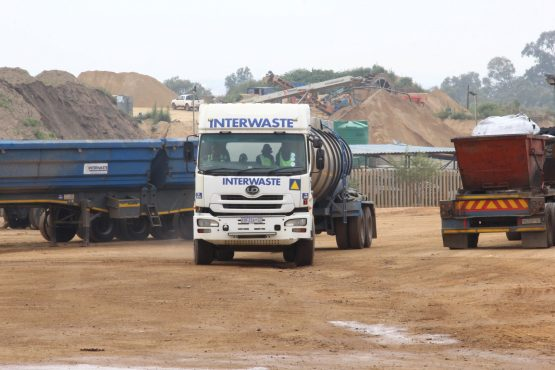 On average 350 trucks per day arrive at FG to dispose of waste from clients, including the Johannesburg and Ekurhuleni metro municipalities.