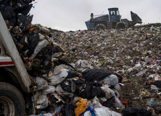 Mountains of waste piling up on landfill sites comes at a steep cost, hence the attractiveness of converting organic matter and reducing methane emissions on-site. Picture: Ty Wright/Bloomberg