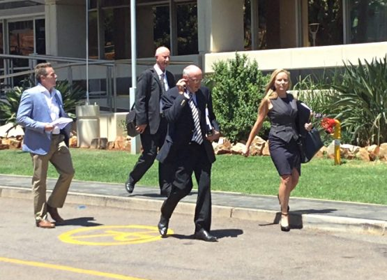 From left to right: Dirk Koekemoer, Rudi Badenhorst, Connie Myburgh and Dominique Haese.