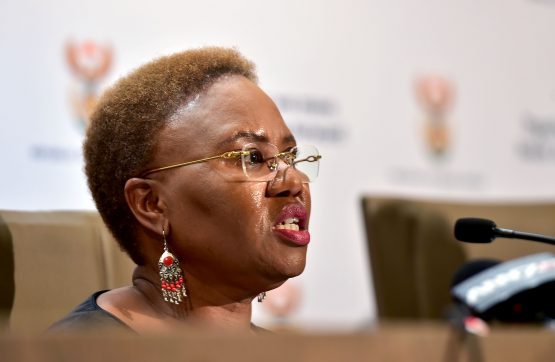 Small Business Development Minister Lindiwe Zulu briefieng the media at Tshedimosetso House on the achievements and progress registered by the department in 2017. Picture: Kopano Tlape/GCIS