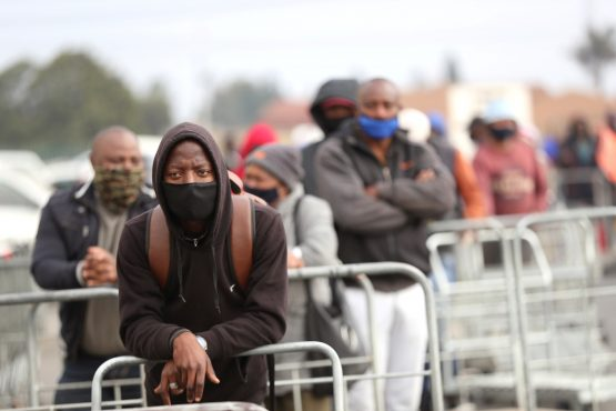 Lockdown weighs on the economy. REUTERS/Siphiwe Sibeko
