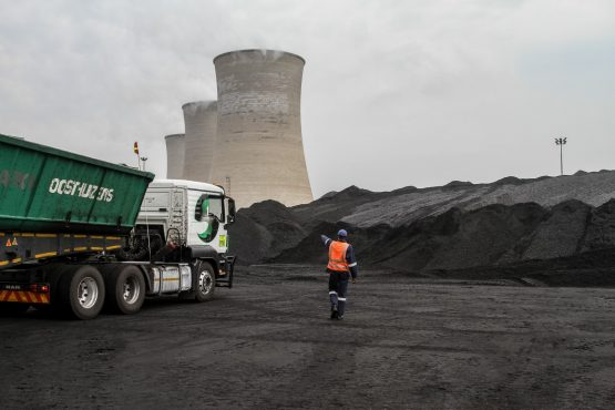 It seems truck drivers transporting coal to Eskom's power stations fear they will lose their jobs because of renewable energy projects. Photographer: Dean Hutton/Bloomberg