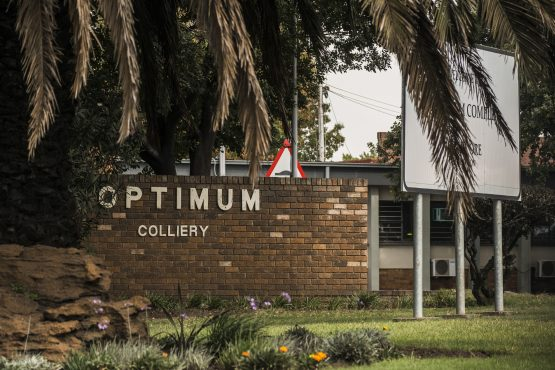 The Optimum Colliery entrance pictured in April 2016, shortly before it was announced that the mine would be sold to the Gupta family. Picture: Waldo Swiegers/Bloomberg