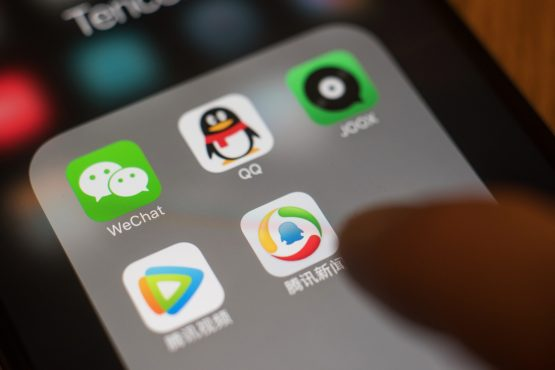 With WeChat itself nearing peak penetration (it has 1.1 billion monthly active users) Tencent needs to go deeper to keep growing. Picture: Anthony Kwan/Bloomberg