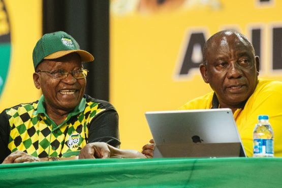 President Jacob Zuma and Deputy President Cyril Ramaphosa. ANC official says ruling party members are dealing with the 'current issue that is facing our country'. Picture: Bloomberg