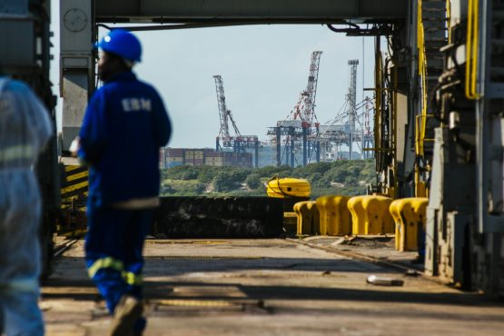 Transnet suspended a number of employees at its Ngqura Container Terminal for engaging in an illegal industrial action. Picture: Waldo Swiegers, Bloomberg