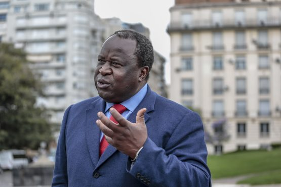 Tito Mboweni (pictured) dismissed Ace Magashule's comments on the Sarb's mandate, saying 'there is no quantitative easing thing here'. Picture: Bloomberg