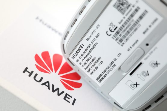 Huawei unveils an artificial intelligence chipset, the Ascend 910, which is poised to compete with offerings from rivals. Picture: Chris Ratcliffe, Bloomberg