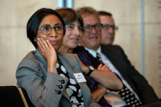 Heather Sonn (foreground). Her departure 'will leave a big credibility hole in Steinhoff'. Image: Dwayne Senior, Bloomberg