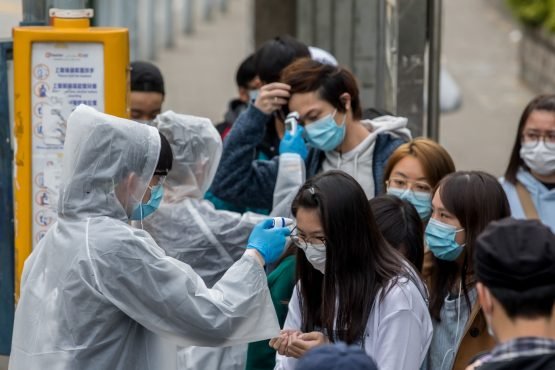 A total of 63 851 people have been infected by the virus, globally. Image: Paul Yeung, Bloomberg