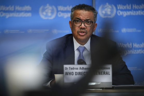 Tedros Adhanom Ghebreyesus, director general of the World Health Organization (WHO), speaks during a news conference on COVID-19 in Geneva, Switzerland, on Monday, March 2, 2020. Image: Stefan Wermuth/Bloomberg