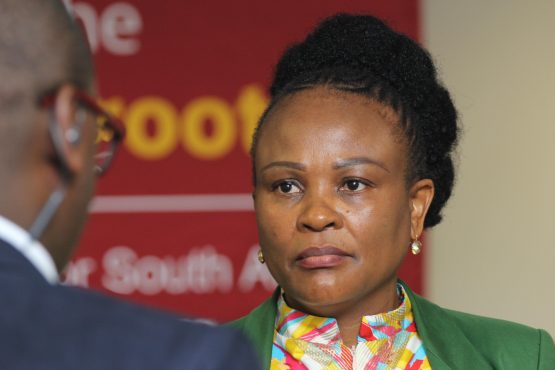 Public protector Busisiwe Mkhwebane last week found that President Ramaphosa had violated the ethics code when he misled lawmakers about a campaign donation. Picture: Moneyweb