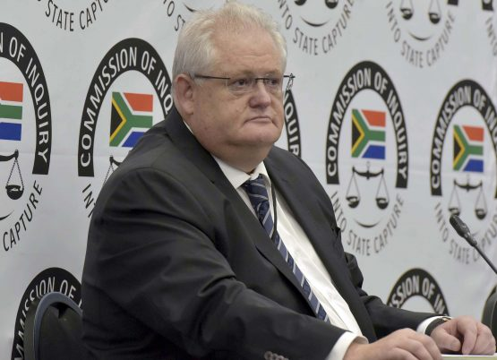 Head of the corruption accused facilities management company, Bosasa, Angelo Agrizzi speaks at the State Capture Commission in Parktown. Picture: Neil McCartney, Citizen