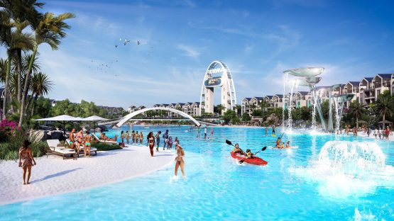 An artist's impression of Munyaka, Balwin Properties' new R9bn development in Waterfall, which will have the largest man-made Crystal Lagoon in the Southern Hemisphere. Image: Supplied