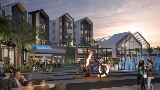 What the SunPark Square open-air area of the mall will look like. Image: Supplied