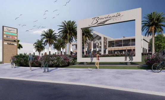 A streetscape artist's impression of part of the new mall development.  Image: Supplied